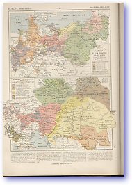 Prussian and Austrian Empires - 18th Century (Atlas General Histoire et Geographie - Published: 1912) 600 DPI