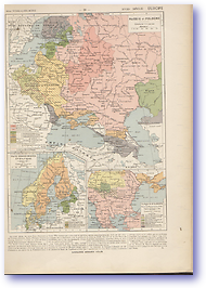 18th Century Russia Poland Scandinavia and Turkey - 18th C (Atlas General Histoire Et Geographie - Published: 1912)