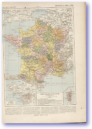 Revolutionary France - 1790-1795 (Atlas General Histoire et Geographie - Published: 1912)