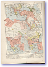 Turkish and Ottoman Empire - 1792-1877 (Atlas General Histoire Et Geographie - Published: 1912)