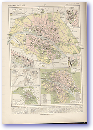 History of Paris - 1789 (Atlas General Histoire et Geographie - Published: 1912) 600 DPI
