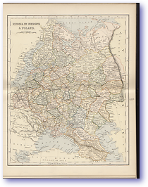 Russia In Europe and Poland - 1870 (Gallery of Geography - Published: 1870)
