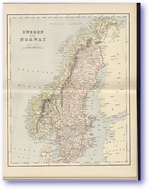 Sweden and Norway - 1881 (Gallery of Geography - Published: 1882) 600 DPI