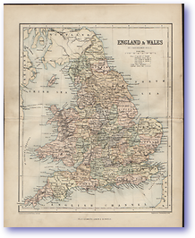 England and Wales - 1846 (Gallery of Geography - Published: 1846)