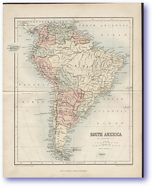 South America - 1846 (Gallery of Geography - Published: 1846) 600 DPI