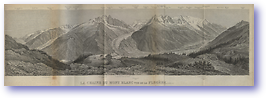 Mont Blanc From Flegere - 1881 (Switzerland - Published: 1881) 600 DPI