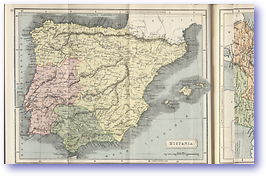 Hispania Spain - 1912 (Atlas of Ancient and Classical Geography - Published: 1912) 600 DPI