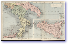 Italie Pars Meridionalis Southern Italy - 1912 (Atlas of Ancient and Classical Geography - Published: 1912) 600 DPI