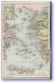 Insulae Maris Aegaei Agean Sea - 1912 (Atlas of Ancient and Classical Geography - Published: 1912) 600 DPI