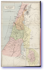 Palaestina Christi Ejus Temporibus Palestine At The Time of Christ - 1912 (Atlas of Ancient and Classical Geography - Published: 1912)