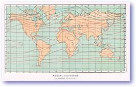 Annual Isotherms - 1888 (Our Earth and its Story - Vol 3 - Published: 1889) 600 DPI