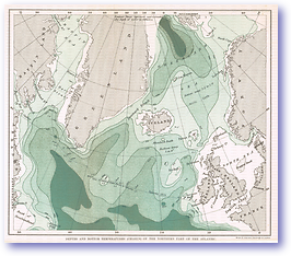 Depths and Bottom Temperatures of the North Atlantic - 1887 (Our Earth and its Story - Vol 2 - Published: 1888) 600 DPI