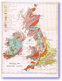 Geological Map of the British Isles - 1898 (Our Earth and its Story - Published: 1899)