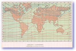 Isotherms January - 1888 (Our Earth and its Story - Vol 3 - Published: 1889) 600 DPI