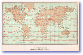 Isotherms July - 1888 (Our Earth and its Story - Vol 3 - Published: 1889) 600 DPI