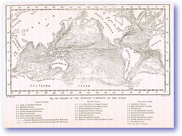 Ocean Surface Currents - 1888 (Our Earth and its Story - Vol 3 - Published: 1889) 600 DPI