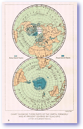 Past and Present Glacial Coverage - 1886 (Our Earth and its Story - Vol 1 - Published: 1887) 600 DPI