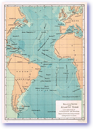 Relative Depths of the Atlantic Ocean - 1886 (Our Earth and its Story - Vol 1 - Published: 1887) 600 DPI