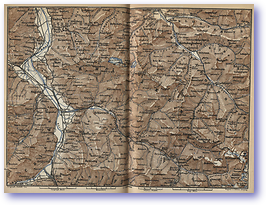 Regatz Prattigau Montavon Areas - 1881 (Switzerland - Published: 1881) 600 DPI