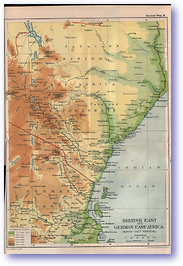 British East and German East Africa - 1914 (The Guide to South and East Africa - Published: 1914)