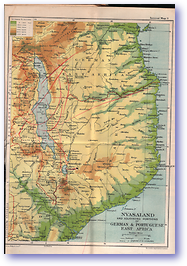 Nyasaland - 1914 (The Guide to South and East Africa - Published: 1914)