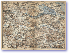 Schaffhausen Fraunfield Constanz - 1881 (Switzerland - Published: 1881) 600 DPI