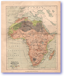 Physical Map of Africa - Unknown (Miscellaneous Sheets - Published: Unknown)