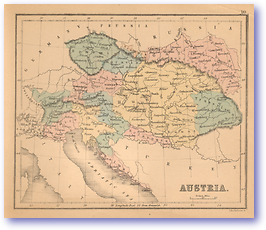Austria - 1866 (Black's School Atlas for Beginners - Published: 1866) 1200 DPI