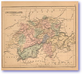 Switzerland - 1866 (Black's School Atlas for Beginners - Published: 1866) 1200 DPI
