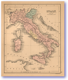Italy - 1866 (Black's School Atlas for Beginners - Published: 1866) 1200 DPI