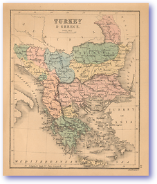 Turkey and Greece - 1866 (Black's School Atlas For Beginners - Published: 1866)