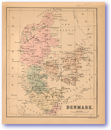 Denmark - 1866 (Black's School Atlas for Beginners - Published: 1866) 1200 DPI