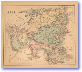 Asia - 1866 (Black's School Atlas for Beginners - Published: 1866) 1200 DPI