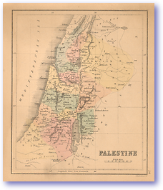 Palestine - 1866 (Black's School Atlas for Beginners - Published: 1866) 1200 DPI