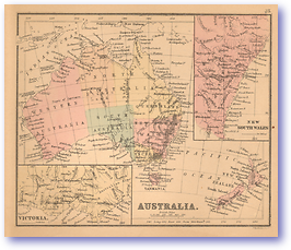 Australia - 1866 (Black's School Atlas for Beginners - Published: 1866) 1200 DPI
