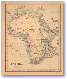 Africa - 1866 (Black's School Atlas for Beginners - Published: 1866) 1200 DPI