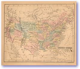 United States and Canada - 1866 (Black's School Atlas for Beginners - Published: 1866)