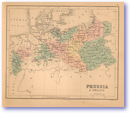 Prussia and Poland - 1866 (Black's School Atlas for Beginners - Published: 1866) 1200 DPI