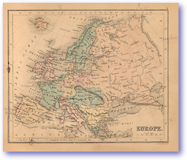 Europe - 1866 (Black's School Atlas for Beginners - Published: 1866) 1200 DPI