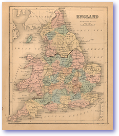 England - 1866 (Black's School Atlas for Beginners - Published: 1866) 1200 DPI