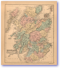 Scotland - 1866 (Black's School Atlas for Beginners - Published: 1866) 1200 DPI