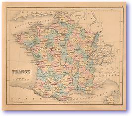 France - 1866 (Black's School Atlas for Beginners - Published: 1866)