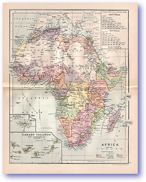 Africa - 1895 (Castle Line Atlas of South Africa - Published: 1895) 1200 DPI