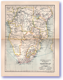 Central and South Africa - 1895 (Castle Line Atlas of South Africa - Published: 1895) 1200 DPI