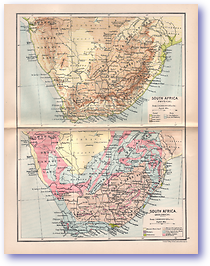 South Africa Physical and Geological - 1895 (The Castle Line Atlas of South Africa - Published: 1895)