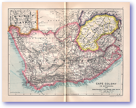 Cape Colony - 1895 (Castle Line Atlas of South Africa - Published: 1895) 1200 DPI