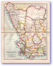 Western South Africa - 1895 (Castle Line Atlas of South Africa - Published: 1895) 1200 DPI