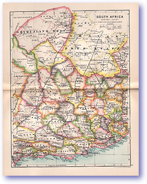 Central South Africa - 1895 (Castle Line Atlas of South Africa - Published: 1895) 1200 DPI