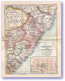 Eastern South Africa - 1895 (Castle Line Atlas of South Africa - Published: 1895) 1200 DPI