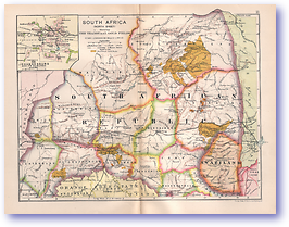 Northern South Africa - 1895 (Castle Line Atlas of South Africa - Published: 1895) 1200 DPI